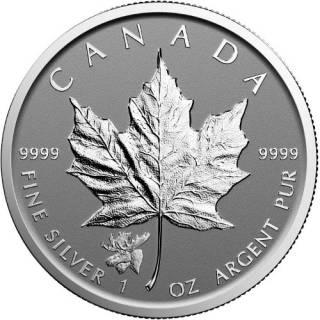 2017 Canada $5 Maple Leaf Fine Silver Privy Mark Moose - No Tax