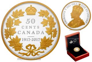 2017 - 1917 - 50¢ 2 oz. Pure Silver Coin