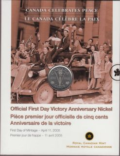 2005 - 5 Cents - Official First Day Victory
