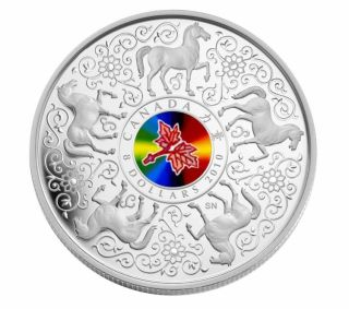2010 - $8 - Sterling Silver Coin - Maple of Strength