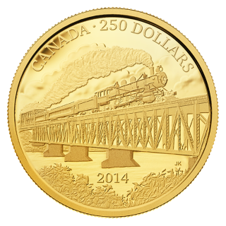 2014, $250 - 2 oz. Pure Gold Coin – Grand Trunk Pacific Railway