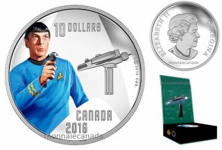 2016 - $10 - 1/2 oz. Pure Silver - Star TrekTM Crew - Spock