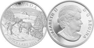 2011 - $20 - Sterling Silver Coin - Winter Scene