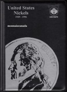 US Coins 5 Cents Album - 1949-1996