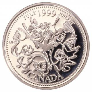 1999 Canada 25 Cents Sterling Silver Proof - July
