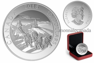 2015 - $10 - 1/2 oz. Fine Silver Coin – Adventure Canada: Dog Sledding