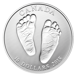 2015 - $10 - 1/2 oz. Fine Silver Coin - Welcome to the World Baby