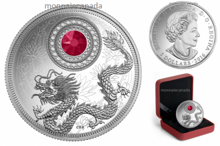 2016 - $5 - Pure Silver Coin made with Swarovski® crystal – Birthstones: July