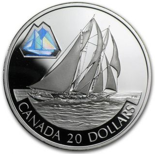 2000 Transportation Schooner 'The Bluenose' $20 Proof Silver