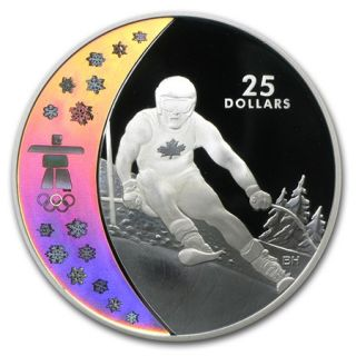 2007 - $25 - Sterling Silver - Alpine Skiing - Vancouver 2010