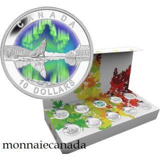 2014 - $10 - 1/2 oz. Fine Silver Coins - O Canada 10-Coin set