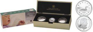 2008 BABY Keepsake Tins & Sterling silver Dollar Set *LOW MINTAGE*