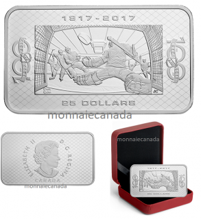 2017 - $25 - 1.5 oz. Pure Silver Coin - 100th Anniversary of the NHL®