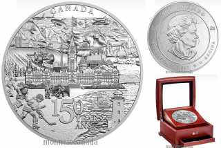 2017 - $500 - 5 Kilogram Pure Silver Coin - Canada 150 From Coast to Coast to Coast