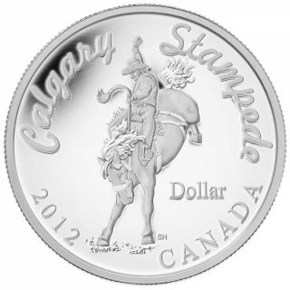2012 Proof Fine Silver Dollar Coin - Calgary Stampede - Mintage: 10000