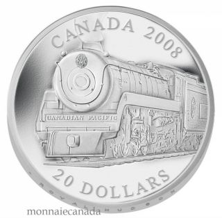 2008 $20 Fine Silver coin - Royal Hudson Locomotive - TAX Exempt