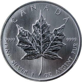 Canada $5 Maple Leaf Fine Silver 99,99% Pure - 1 oz Coin