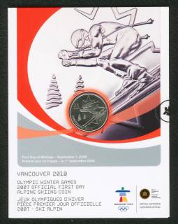 2007 25 Cents Vancouver 2010 - Alpine Skiing - Official First Day