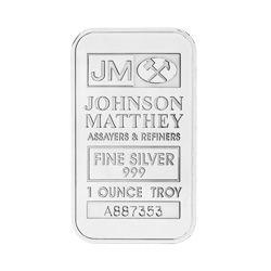 1 oz Johnson Matthey Silver Wafer Bar