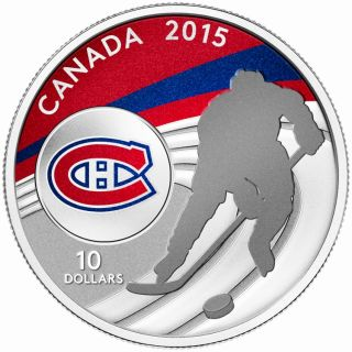 2015 - $10 - 1/2 oz. Fine Silver Coin - Montreal Canadiens®