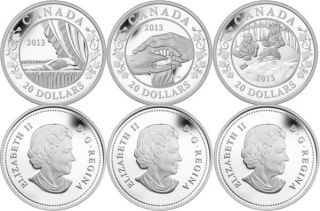 2013 - $20 Fine Silver Royal Infant 3-Coin Set