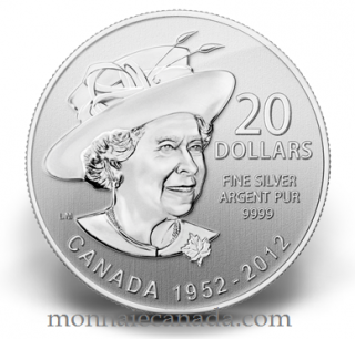 2012 - $20 for $20 - QUEEN Jubilee 99.99% PURE SILVER 60 Years *NO TAX*