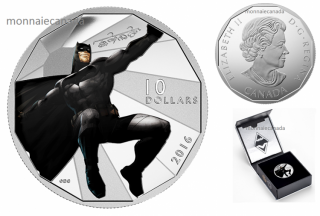 2016 - $10 - 1/2 oz. Fine Silver – Batman v Superman: Dawn of JusticeTM - Batman