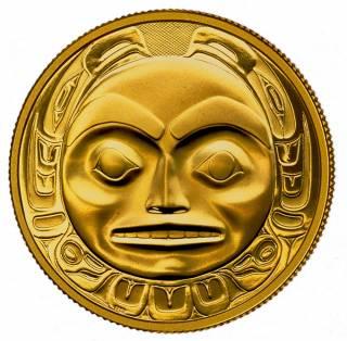 1997 - $200 - Gold 22K - Haida - Raven Bringing Light to the World