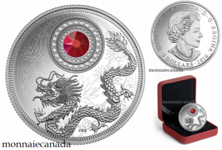 2016 - $5 - Fine Silver Coin made with Swarovski® Crystal - Birthstone - January