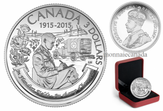 2015 - $3 - Fine Silver Coin – 100th Anniversary of In Flanders Fields