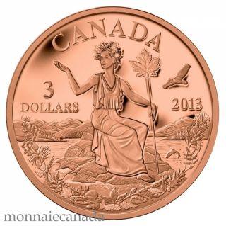 2013 - Bronze Coin - Canada: An Allegory $3