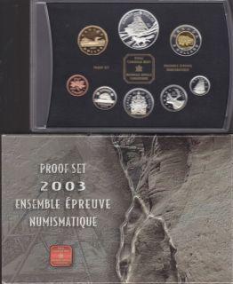 2003 Proof Double dollar Set