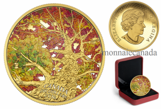 2016 - $250 - 2 oz. Pure Gold Coloured Coin – Maple Canopy: Kaleidoscope of Colour