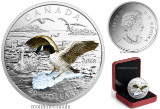 2018 - $20 - 1 oz. Pure Silver Coin - 3D Approaching Canada Goose