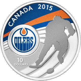 2015 - $10 - 1/2 oz. Fine Silver Coin - Edmonton Oilers®