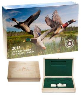 2013 2014 - $10 - Fine Silver Coins - Ducks of Canada 3-Coin Box set