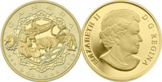 2013 - $500 - 5 oz Pure Gold Coin - An Aboriginal Story