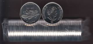 2017 Canada 5 Cents - Living Traditions - BU ROLL 40 Coins - UNC
