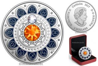 2017 - $3 - Pure Silver coin – Zodiac - Gemini