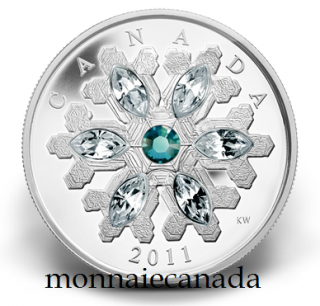 2011 - $20 - Fine Silver Coin - Emerald Crystal Snowflake