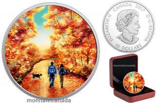 2017 - $15 - Great Canadian Outdoors: Sunrise - Pure Silver Glow-in-the-Dark Coin