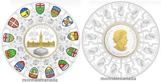 2017 - $20 & $50 - Pure Silver Puzzle (14) Coin - Canada 150
