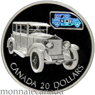 2002 Canada $20 Dollars Sterling Silver Transportation - The Gray-Dort