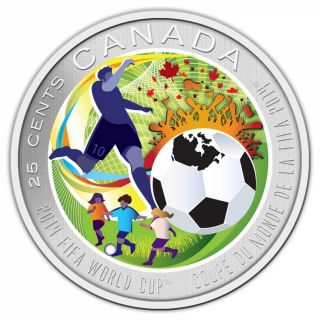 2014 - 25 Cents - Coloured Coin - FIFA World CupTM/MC
