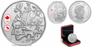 2016 - $1 - Limited Edition Proof Silver Dollar – Celebrating Canadian Athletes