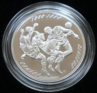 1998 - Soccer Proof - 50 Cents Sterling Silver - Sports