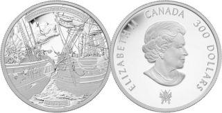 2013 - $300 - 1 oz Fine Platinum Coin - HMS Shannon & USS Chesapeake