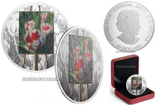 2017 - $20 - 1 oz. Pure Silver Coloured Coin - En Plein Air: Springtime Gifts