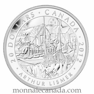 2012 - $20 - Fine Silver Coin - Lismer, Nova Scotia Fishing Village