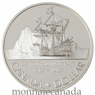 1987 Silver Dollar Proof - 400th Anniv. John Davis Exploration